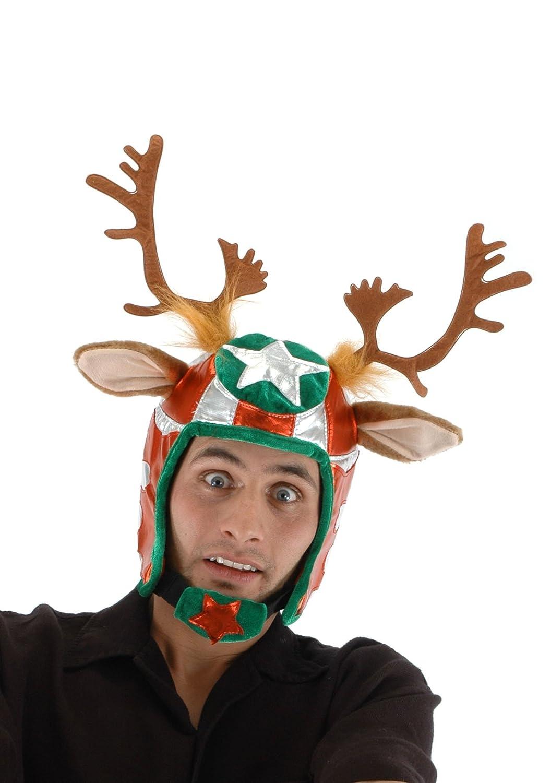 elope Racing Reindeer Plush Helmet Hat 291201