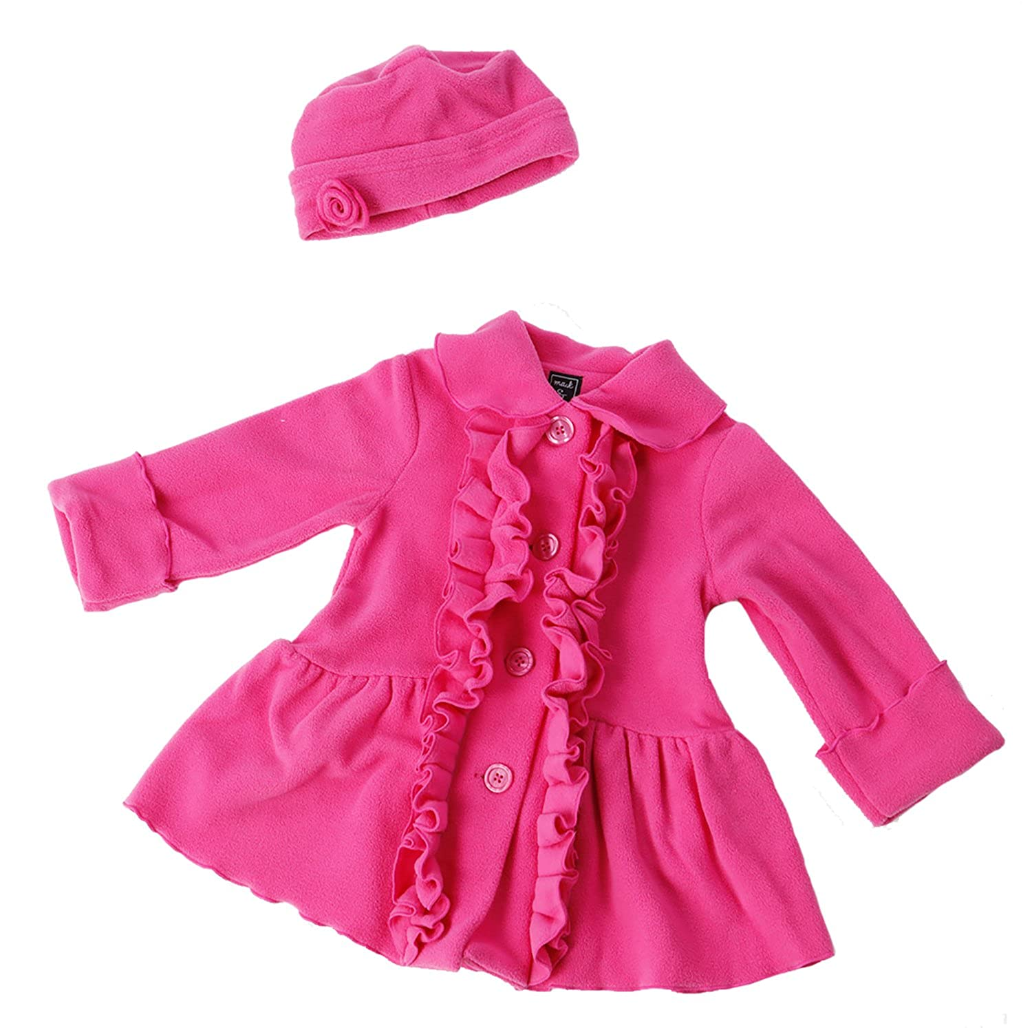 Mack & Co Ruffle Front Coat and Hat Set