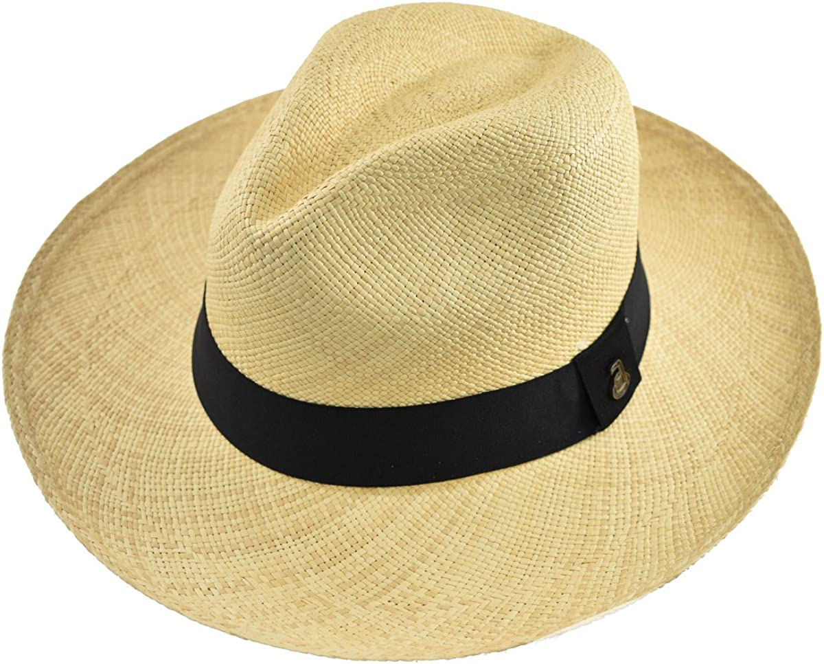 ala Ancha Color Camel con Hebilla de cintur/ón Sombrero de Panam/á cl/ásico para Hombre y Mujer