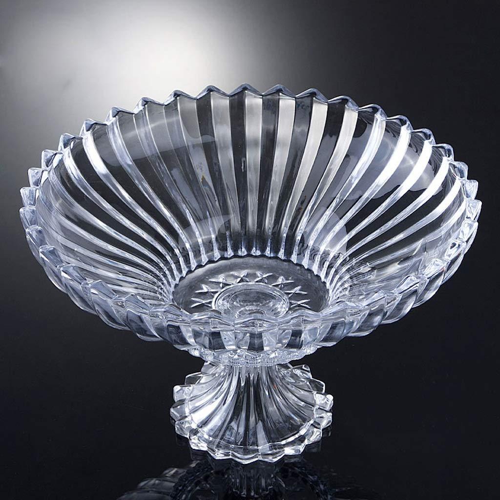 PLL ヨーロッパスタイルのクリエイティブプレートのフルーツプレートクリスタルガラスの家庭用透明なフルーツプレート (Color : Silver)  Silver B07JXZ93C6