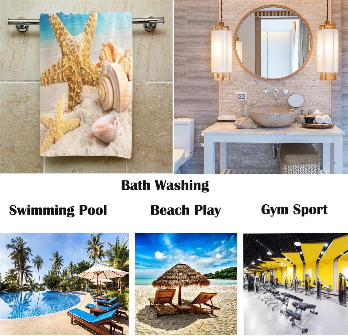 Pfrewn Starfish Seashells Beach Hand Towels 16x30in Bathroom Towel Ultra Soft Highly Absorbent Small Bath Towel Bathroom Decor Gifts Fingertip Towels Home Kitchen Fcteutonia05 De