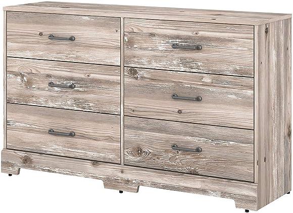 Bush Furniture Kathy Ireland Home River Brook 6 Drawer Dresser