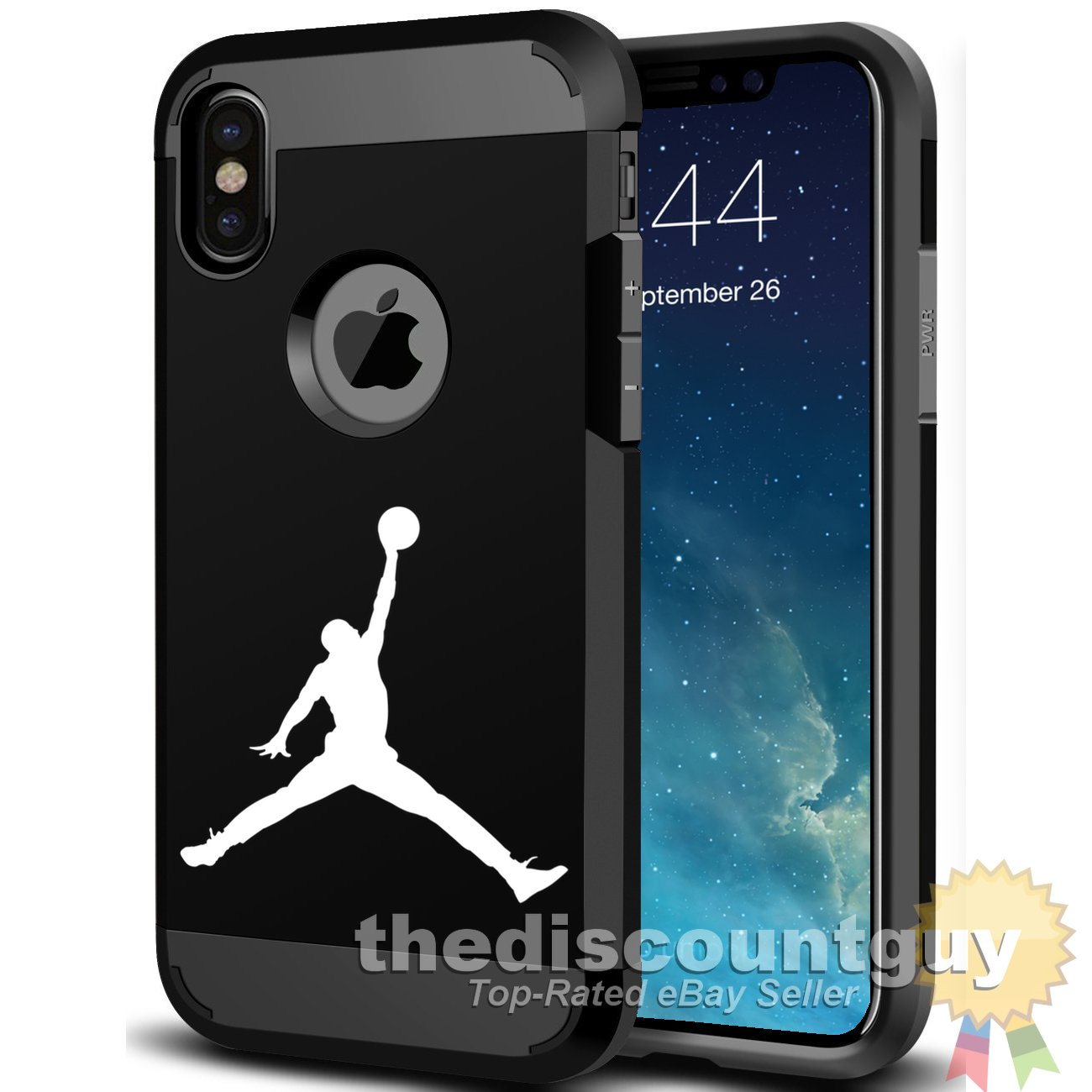 promo code 6cb20 ebefb Amazon.com: iPhone XR - Shock Resistance Two Layer PC TPU Jordan ...