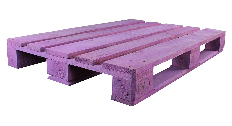 Palet Europalet homologado 120x80x14 cm diferentes colores (Violeta): Amazon.es: Hogar