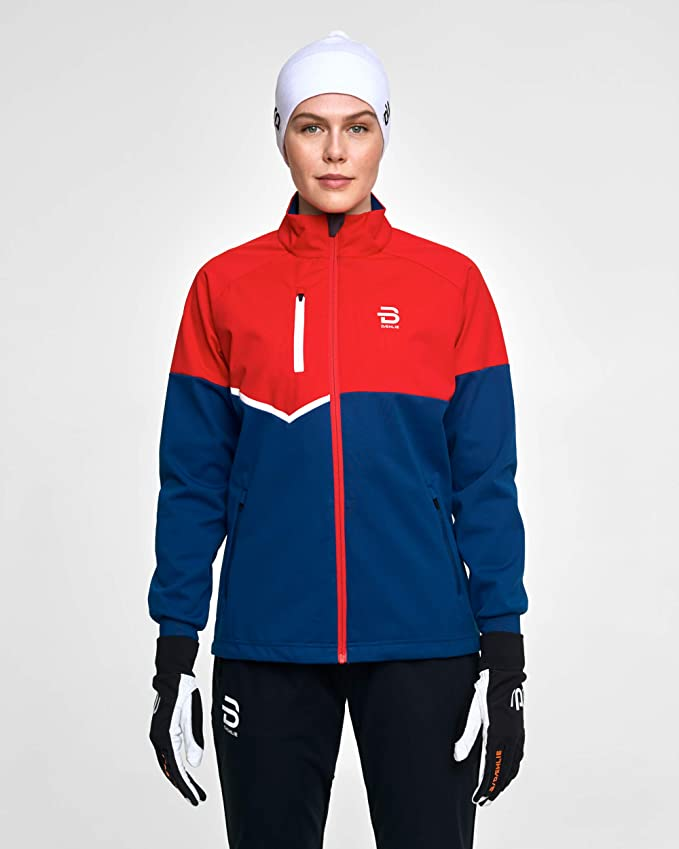 Daehlie Womens Ridge Ski Jacket Softshell Training Full Zip Coat