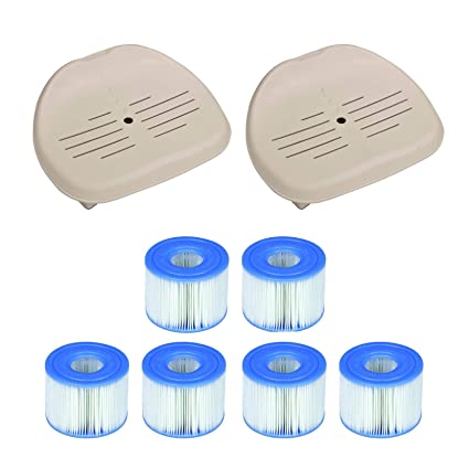 Amazon.com: Intex - Asiento para bañera Pure Spa (2 unidades ...