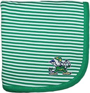 643997a4e Amazon.com: University of Notre Dame Fighting Irish Leprechaun NCAA Baby  Blanket 33