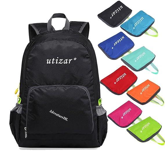 Amazon.com : Utizar Lightweight Folding Backpack Gym Bag Foldable Day Backpack Outdoor Bag Travelling Backpack Camping Sports Backpack Shopping Ultra-Light ...