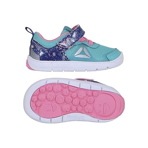fecf65d34da Reebok Ventureflex Stride 5 NAA Shoe Toddler s Training 3 Teal-Team  Purple-Peppy Pink