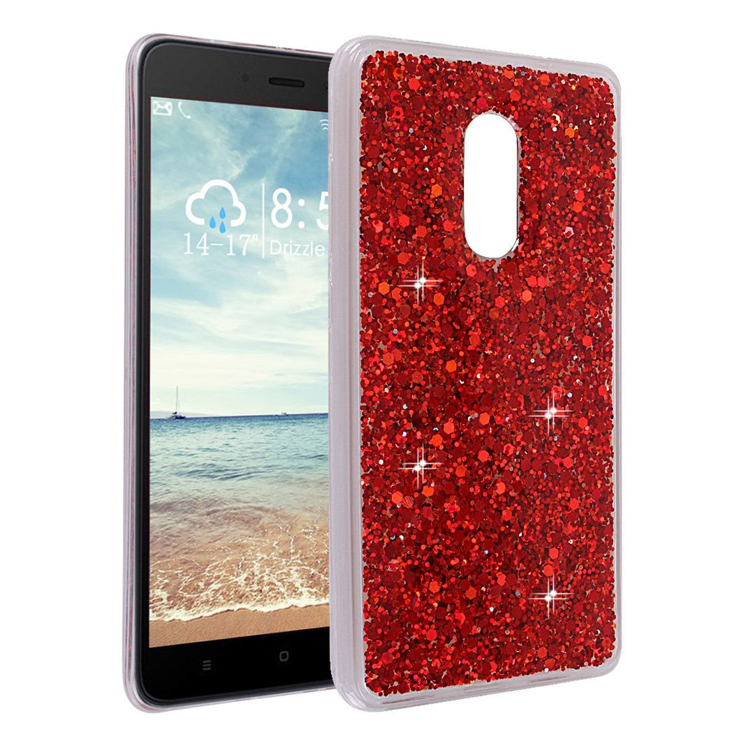 Xiaomi Redmi Note 4 Hülle Glitzer Silkon, Asnlove 3D Bling Shiny Case Luxus TPU Silikon Handytasche Glänzend Weiche Schlank Ultradünnen Kristall Klar Soft Rückseite Tasche Bumper Transparente Durchsichtig Crystal Hülle Case für Xiaomi Redmi Note 4 5.5 Zoll
