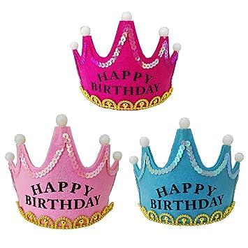 Hocaies Fiesta de cumpleaños coronas de arte tiaras y ...