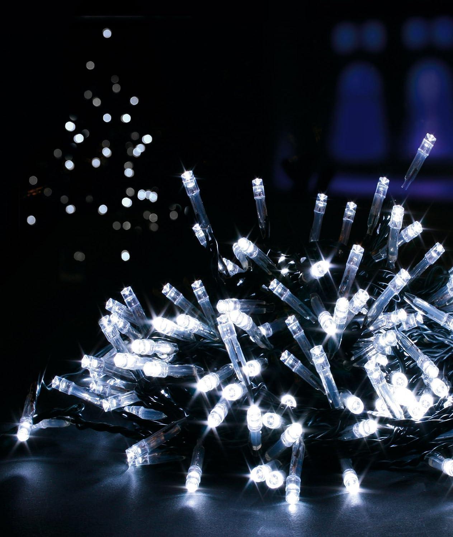 Premier Decorations–Luces navideñas de LED para Interiores y Exteriores Con Temporizador