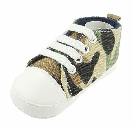 Adorable bebé niños verde Booties Pram Zapatos Camo ...