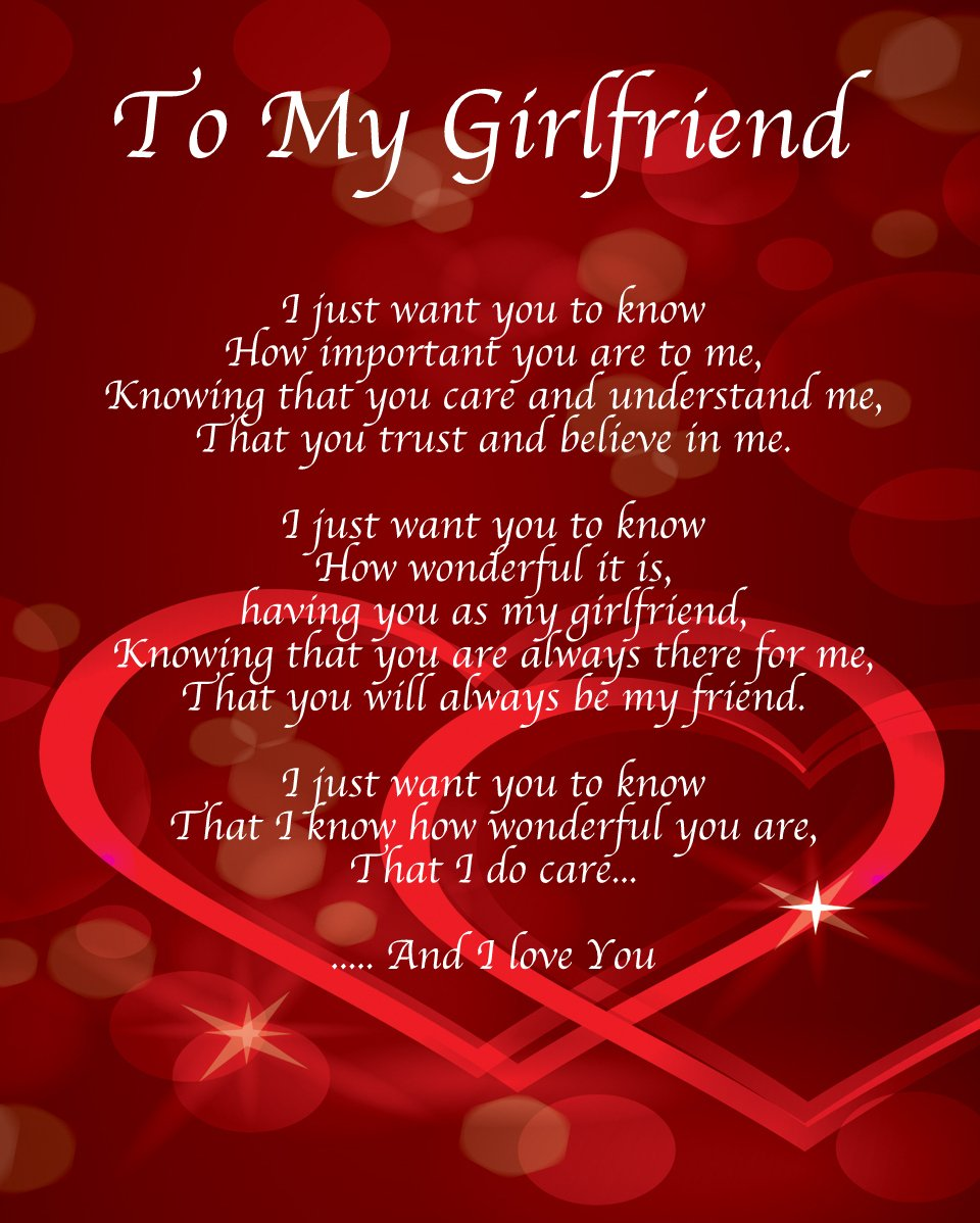 Personalised to my girlfriend poem valentines day birthday christmas personalised to my girlfriend poem valentines day birthday christmas anniversary husband wife boyfriend girlfriend present gift perfect for framing kristyandbryce Image collections
