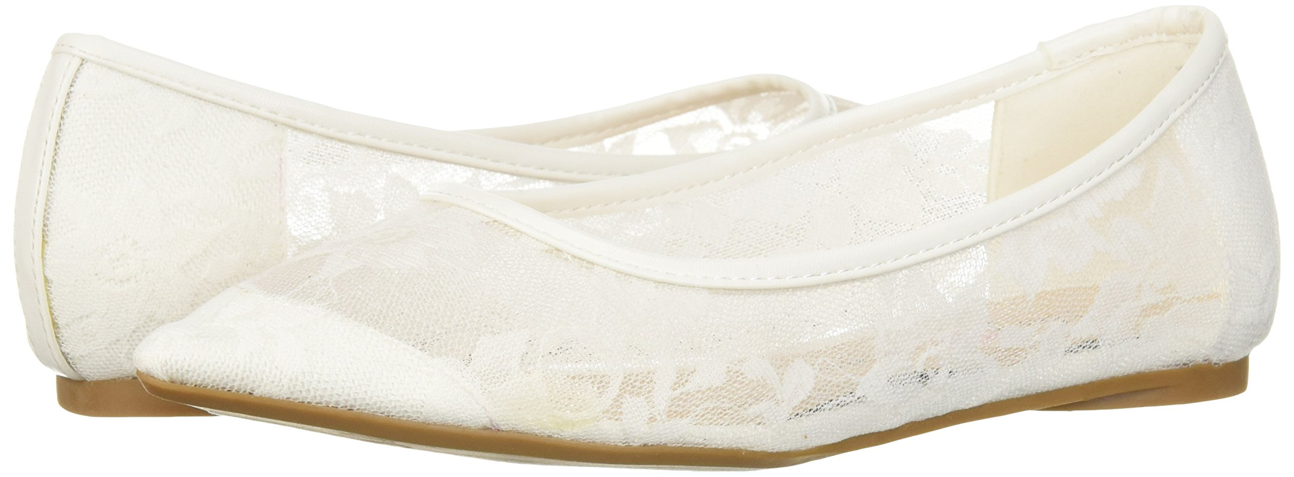 Penny Loves Kenny Women's Knot FL Ballet Flat, White Lace, 9 Medium US by Penny Loves Kenny (Image #5)