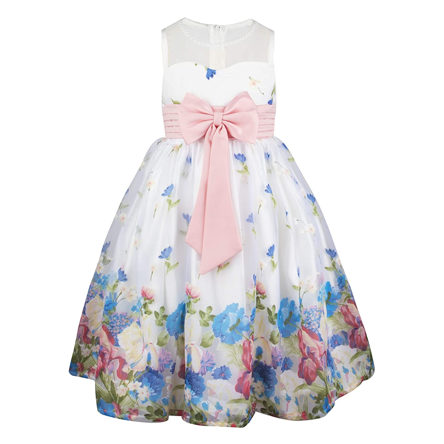 fad706e3fde Top1  Aodaya Little Girls  Sleeveless Floral Princess Pageant Dresses