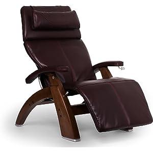 Human Touch Perfect Chair PC-420 Classic Plus Premium Full Grain Leather Zero Gravity Recliner, Burgundy