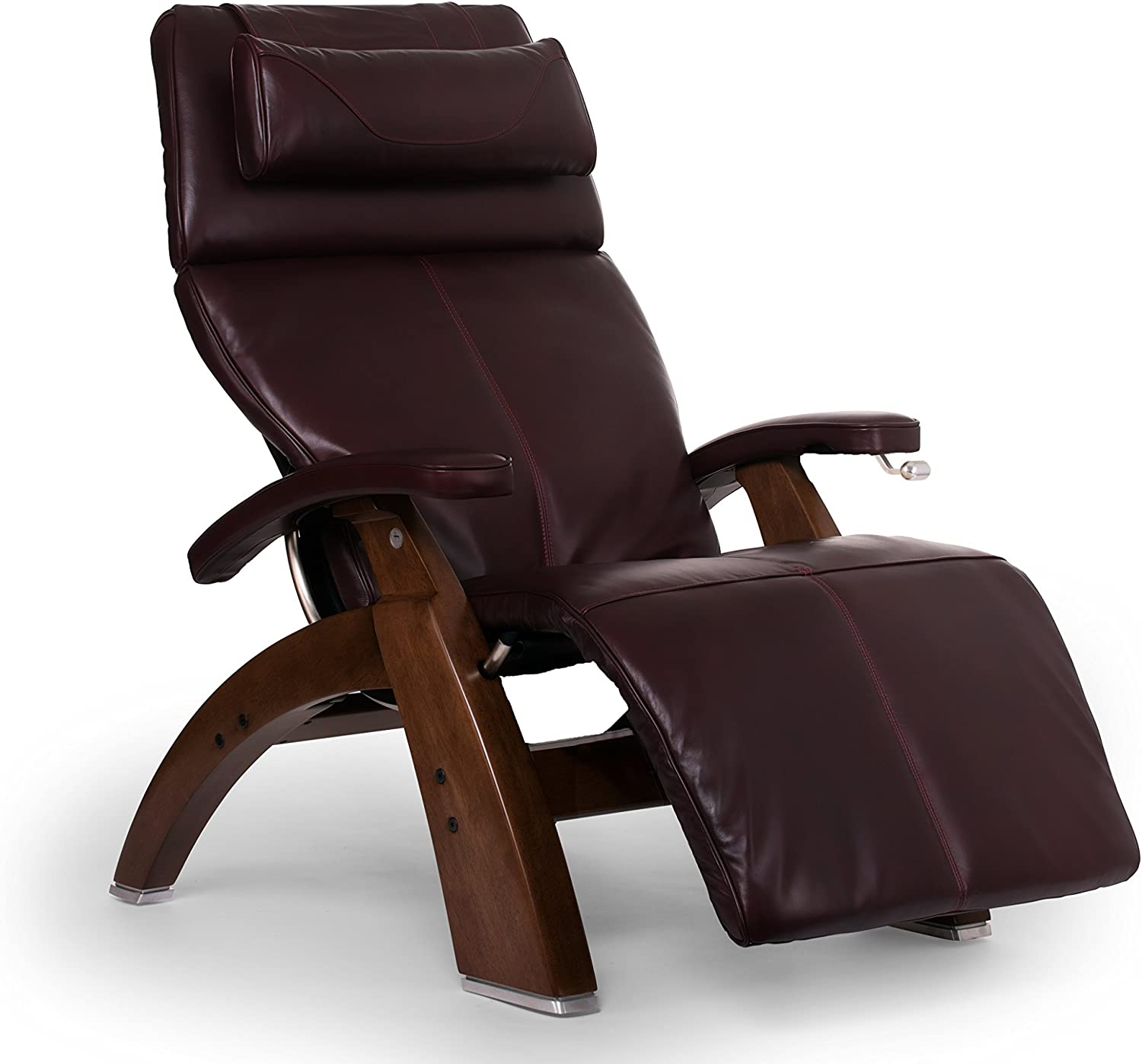 Human Touch Perfect Chair PC-420 Classic Plus Premium Full Grain Leather Zero Gravity Recliner, Burgundy