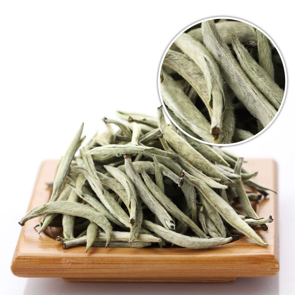 GOARTEA 500g (17.6 Oz) Premium Chinese Organic Bai Hao Yin Zhen BaiHaoYinZhen Silver Needle White Loose Tea
