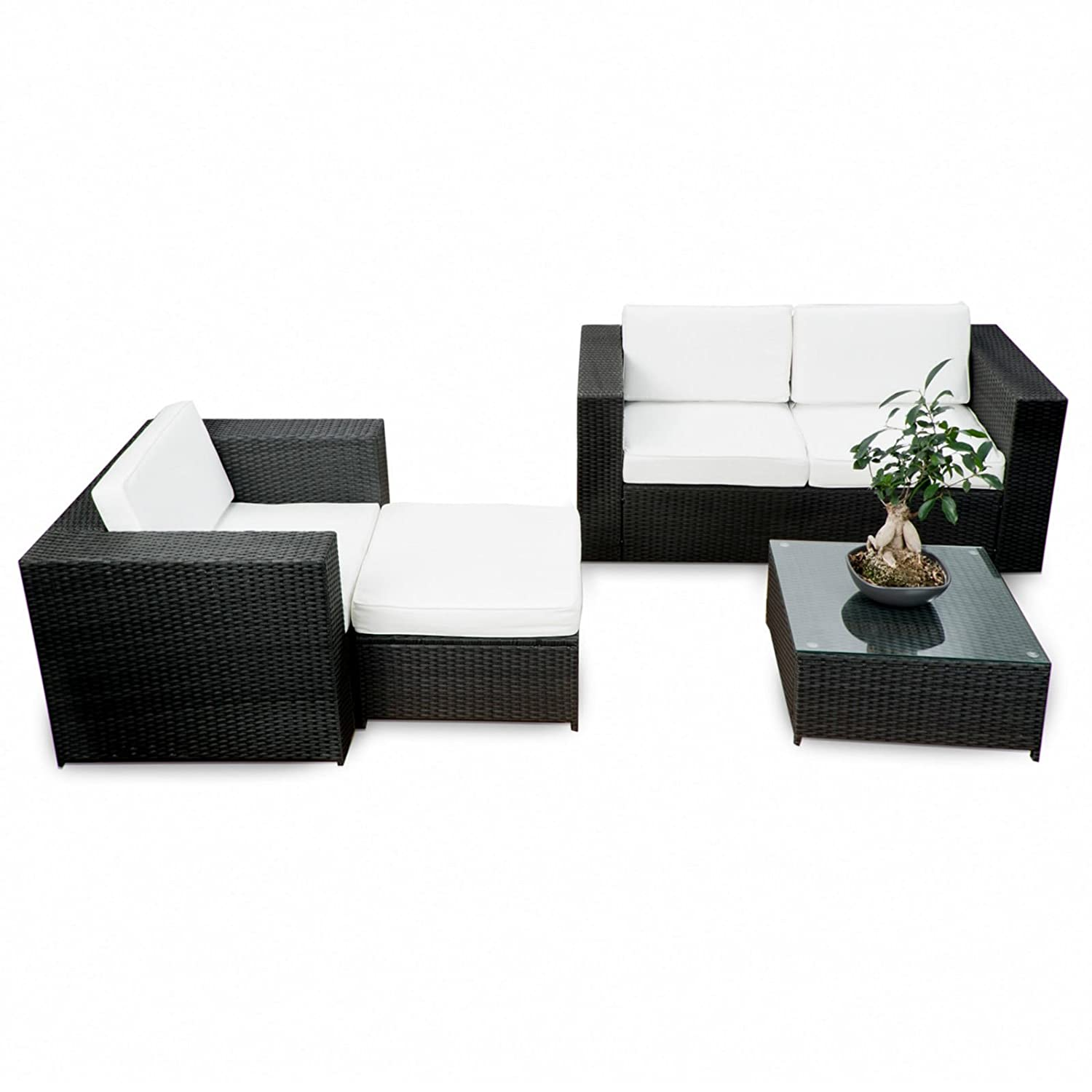 ssitg polyrattan gartenm bel lounge m bel sitzgruppe lounge hocker tisch sessel sofa g nstig. Black Bedroom Furniture Sets. Home Design Ideas