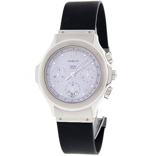 Hublot Geneve MDM 1640.844 M.1 madre de perla Cronógrafo Reloj de pulsera de mujer: Amazon.es: Relojes