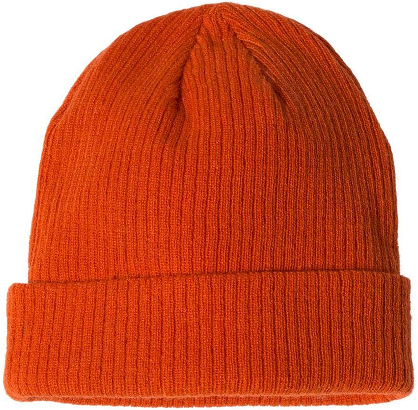 CS4003 Spicy Orange Ribbed Knit Cap One Size Champion