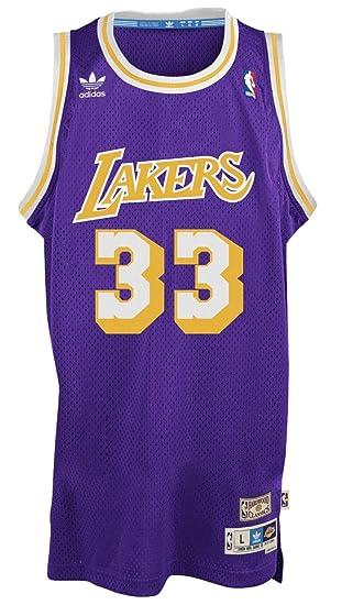 size 40 7a12d 0d68f adidas Kareem Abdul Jabbar Los Angeles Lakers Throwback ...