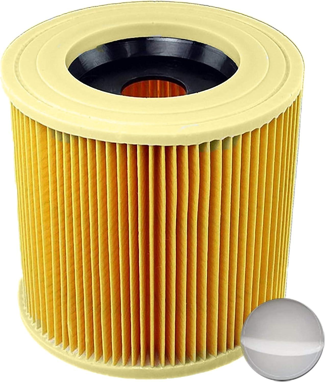 6.414-772.0 6.414-547.0 1x Cartouche Filtre Cartouche Aspirateur Filtre pour K/ärcher WD3 Premium WD2 WD3 WD3 MV3 WD3P Kit dExtension remplace 6.414-552.0