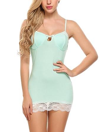 cb806143115c Avidlove Women Nightgown Babydoll Lingerie Sleepwear Cotton Pajama Dress  Chemise Nightshirt