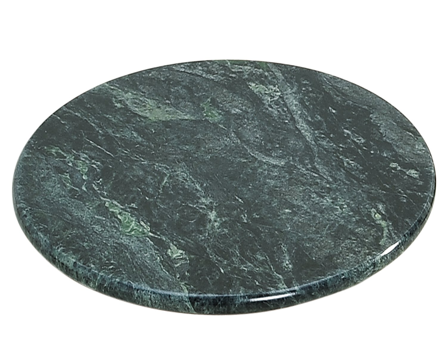 Creative Home Natural Green Marble Lazy Susan, 12'' Diameter by Evco