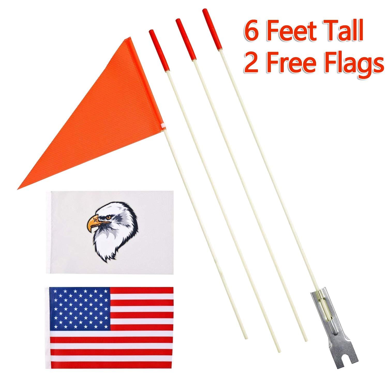 szlzhsm Bicycle Safety Flag 6' Safety Flag Bicycle Safty Flag Eagle and  American Flag