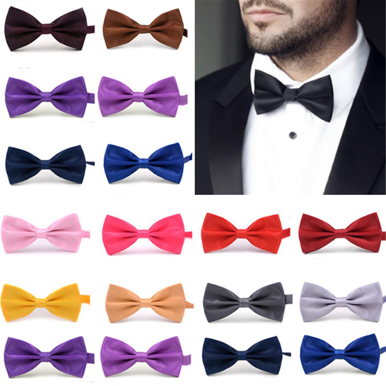 Gentleman Men Classic Satin Bowtie Necktie For Wedding Party Adjustable Bow Tie Knot