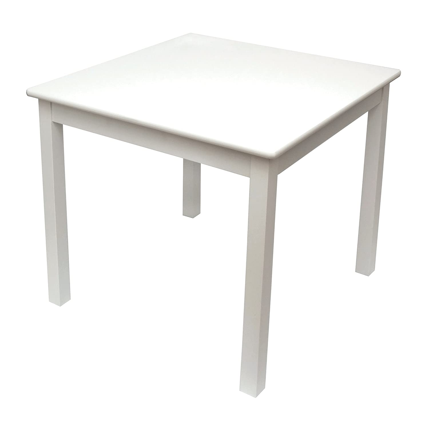 Lipper International 520W Child's Table for Play or Activity, 23.75 x 23.75 Square, 21.66 Tall, White 21.66 Tall