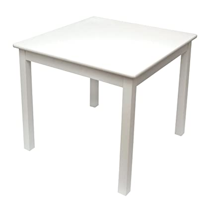 Lipper International 520W Childu0027s Table For Play Or Activity, 23.75u0026quot; X  23.75u0026quot; Square
