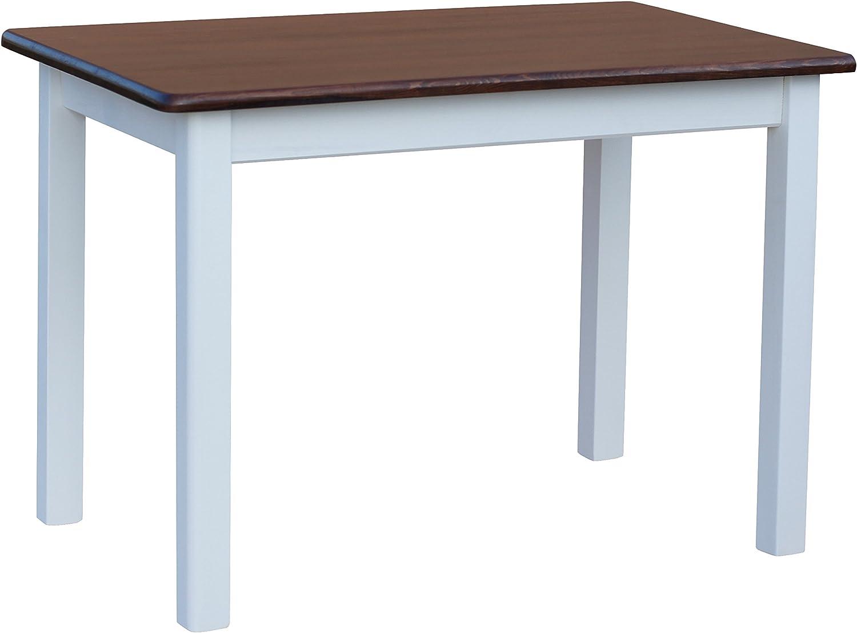 COMA Cocina Mesa 120 x 70 cm comedor mesa (Madera de pino blanco miel Nuevo fabricante: Amazon.es: Juguetes y juegos