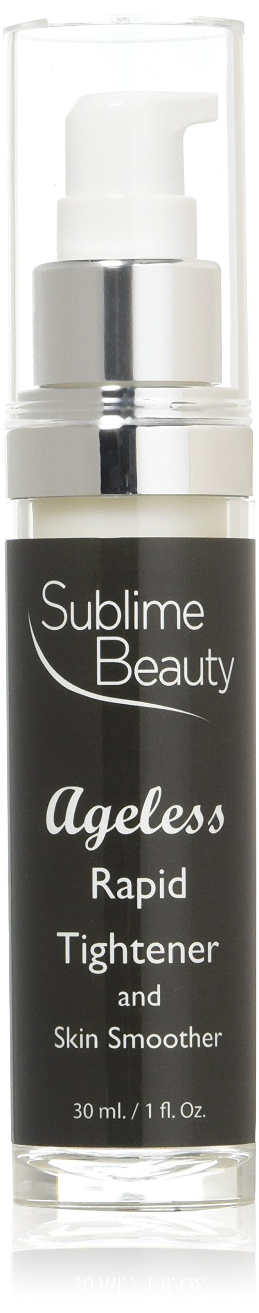 AGELESS RAPID TIGHTENER and SKIN SMOOTHER with SesaFlash from Sublime Beauty, 1 oz. Anti Aging Serum Blurs Lines & Wrinkles Fast + No Flaking.