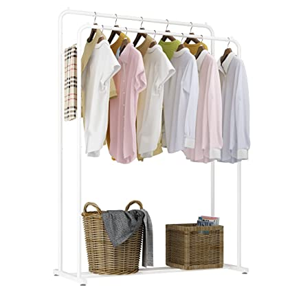 Genial Rackaphile Clothes Rack, Clothes Organizer, Adjustable Double Rails Heavy  Duty Garment Rack For Balcony