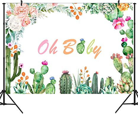 Amazon.com: DULUDA 5 x 3 pies Cactus Baby Shower telón de ...