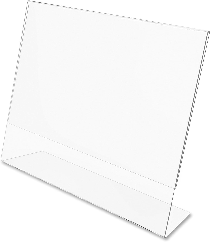 Dazzling Displays 7 x 5 Slanted Sign Holders (6-Pack)