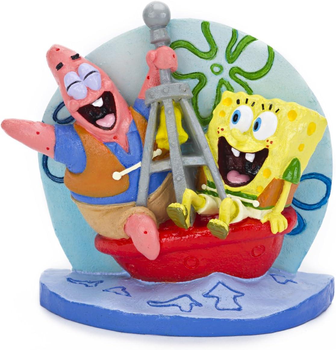 Penn Plax SpongeBob and Patrick on a Buoy Aquarium Ornament