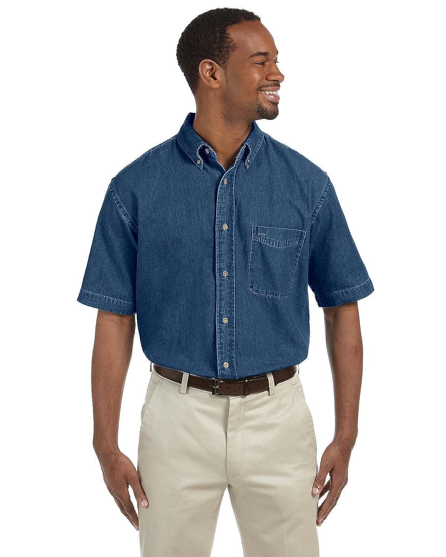 Harriton Mens Stylish Denim Shirt