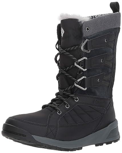 72f8d28830e1 COLUMBIA Women's Hiking Boots Waterproof, MEADOWS OMNI-HEAT 3D, Black  (Black,