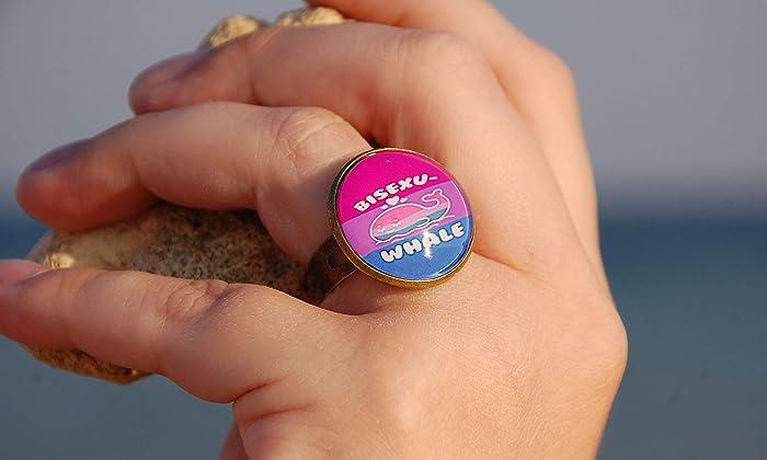 Bi pride ring