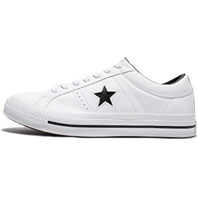 23c6db755b0b Converse Mens One Star Ox Leather Low Top Skate Shoes White 8 Medium (D)