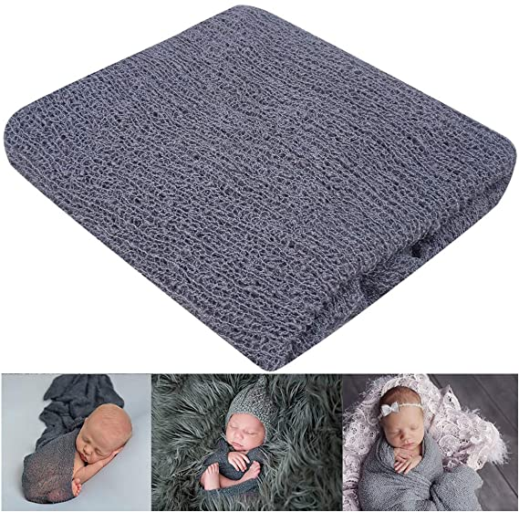 Handmade Blanket+lace Fabric+knit Stretch Wrap Full Set For Newborn Baby Photography Props Receiving Blankets Basket Filling Accessories