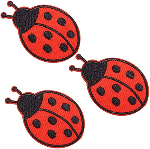 Iron On Lady Bird Lady Bug Applique Patch x 2