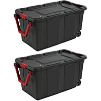 2-Count Sterilite 40 Gallon Wheeled Industrial Tote