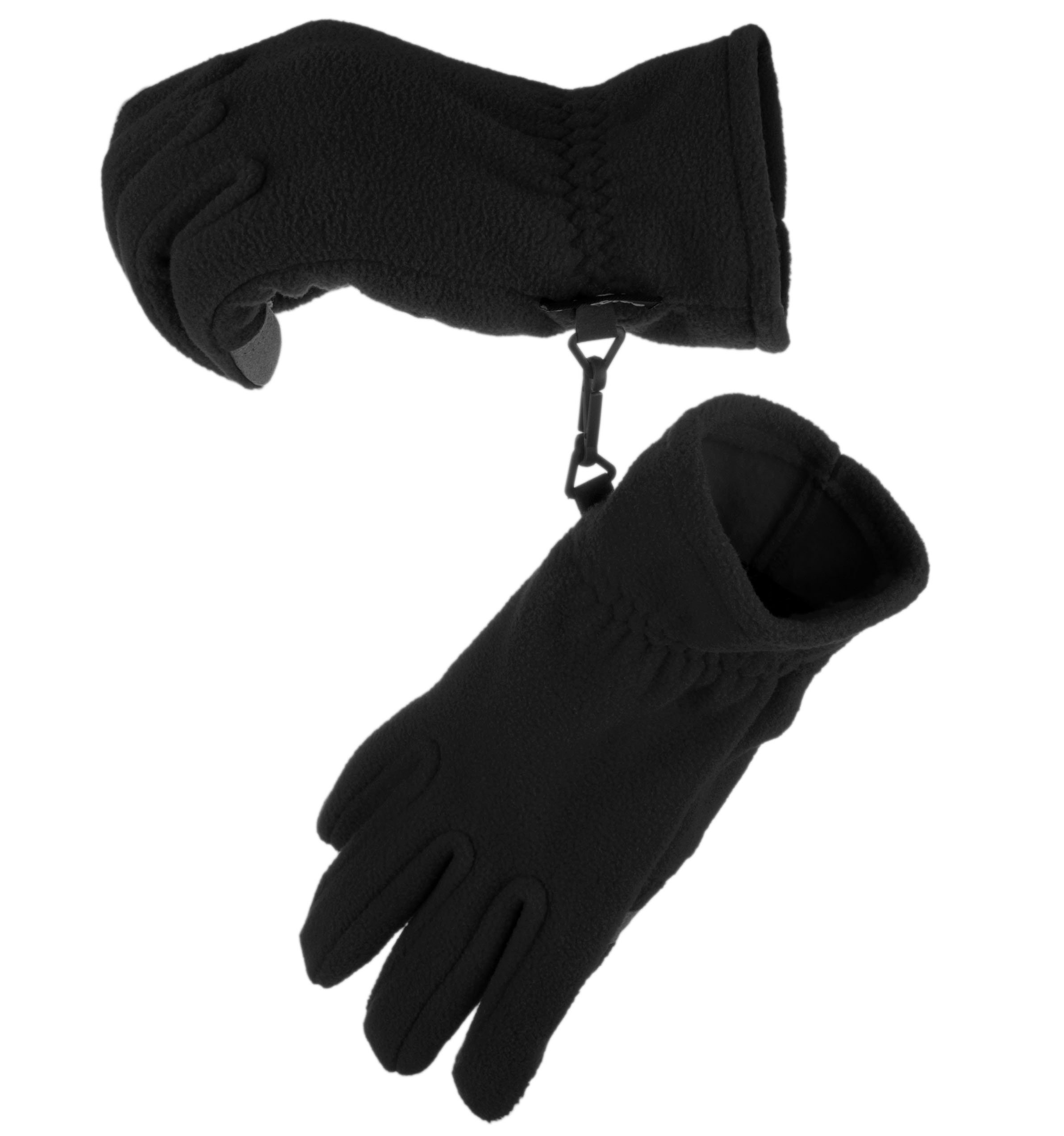 Knolee Men&Women Winter Glove Outdoor Warm Fleece Gloves With TouchScreen,Black M