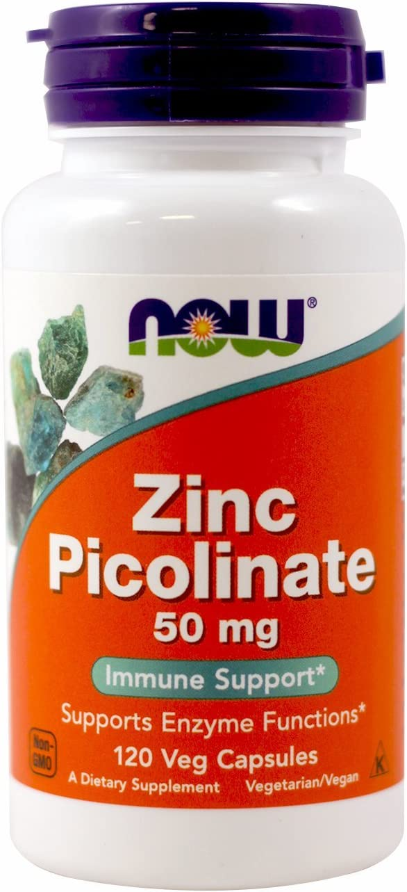 NOW Zinc Picolinate 50mg,120 Capsules (Pack of 2): Health & Personal Care