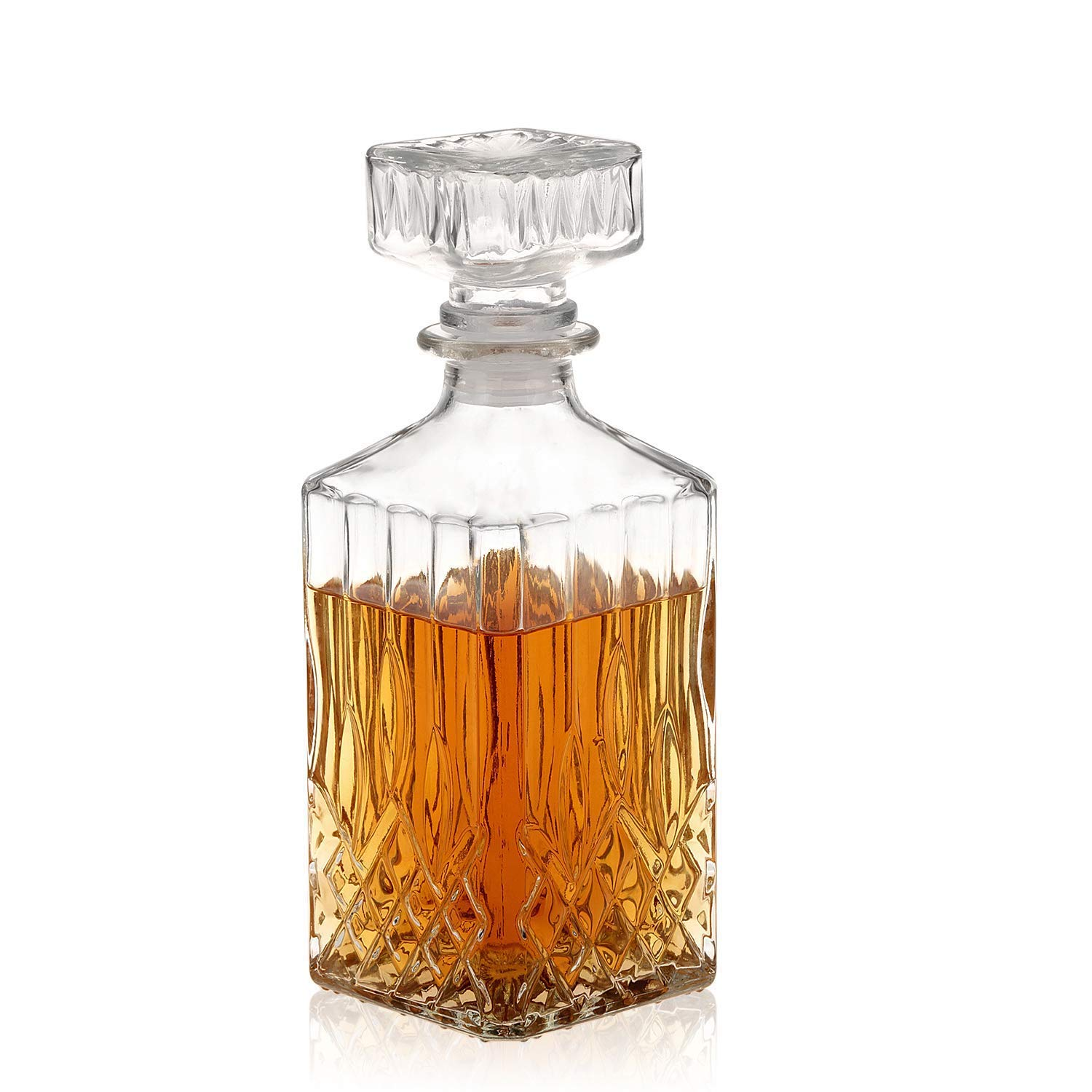 Decanter, Whiskey Decanter, Lead-Free Liquor Decanter 750ml, Glass Decanters For Alcohol by Nakcase decanter